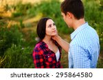 young couple. | Shutterstock . vector #295864580