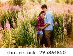 young couple. | Shutterstock . vector #295864850