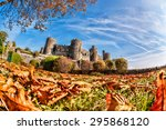 famous conwy castle in wales ...