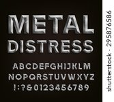 metal effect beveled distressed ... | Shutterstock .eps vector #295876586