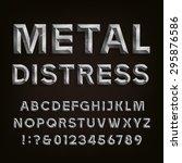 metal effect beveled distressed ... | Shutterstock .eps vector #295876586
