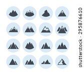 mountain peak icons | Shutterstock .eps vector #295876610