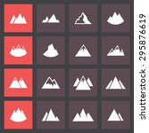 mountain hill icon set | Shutterstock .eps vector #295876619