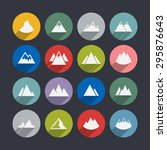 mountain icon set | Shutterstock .eps vector #295876643
