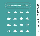 mountain hill icon set | Shutterstock .eps vector #295876658