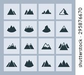 mountain hill icon set | Shutterstock .eps vector #295876670