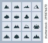mountain hill icon set | Shutterstock .eps vector #295876670