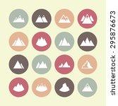 peak icon set | Shutterstock .eps vector #295876673