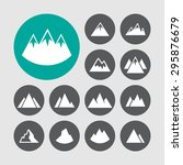 mountain peak icons | Shutterstock .eps vector #295876679