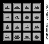 mountain travel icon set | Shutterstock .eps vector #295876700