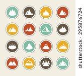 rock peak icons | Shutterstock .eps vector #295876724