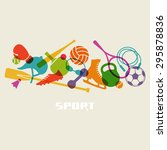 color sport equipment icon.... | Shutterstock . vector #295878836