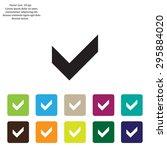 tick icon  vector illustration. ... | Shutterstock .eps vector #295884020