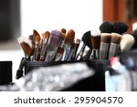 makeup brushes  closeup  | Shutterstock . vector #295904570