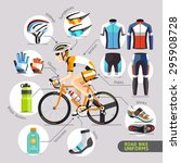 road bike uniforms. vector... | Shutterstock .eps vector #295908728