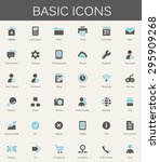 basic web icons. modern vector... | Shutterstock .eps vector #295909268