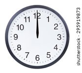 blank clock face with hour ... | Shutterstock . vector #295919873