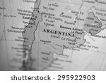 map view of argentina on a... | Shutterstock . vector #295922903
