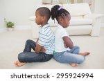 siblings not talking to each... | Shutterstock . vector #295924994