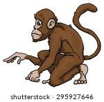 cute monkey character ... | Shutterstock .eps vector #295927646