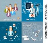 medicine doctors and patients...   Shutterstock .eps vector #295929806