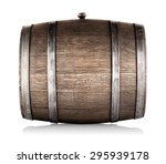 Wooden Barrel Lying On Its Sid...
