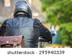 Motorcycle Rider In A Cute...