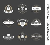 retro vintage logotypes or... | Shutterstock .eps vector #295943480