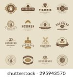 bakery shop logos  badges and... | Shutterstock .eps vector #295943570