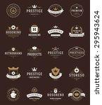 retro vintage premium quality... | Shutterstock .eps vector #295943624