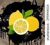 set of citrus fruits | Shutterstock .eps vector #295944014