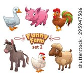 funny farm illustration  vector ...