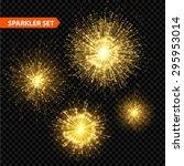 set of transparent christmas...   Shutterstock .eps vector #295953014