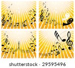 set of four vector musical... | Shutterstock .eps vector #29595496
