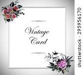 vintage watercolor greeting... | Shutterstock . vector #295956170