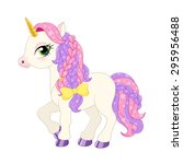 pink pony illustration. | Shutterstock .eps vector #295956488