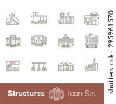 structures high quality outline ... | Shutterstock .eps vector #295961570