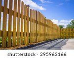 Wooden Fence On A Residental...