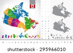 political map of canada.... | Shutterstock .eps vector #295966010