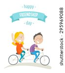 card for a friendship day   two ... | Shutterstock .eps vector #295969088