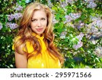 romantic young woman in the... | Shutterstock . vector #295971566