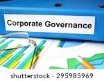 folder with label  corporate... | Shutterstock . vector #295985969