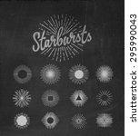 vintage starburst on chalkboard | Shutterstock .eps vector #295990043