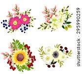 flower set | Shutterstock . vector #295990259