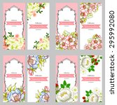 invitation with floral... | Shutterstock . vector #295992080