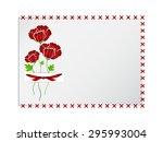 vector frame with crosswise... | Shutterstock .eps vector #295993004