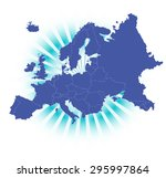 detailed map of europe with... | Shutterstock .eps vector #295997864