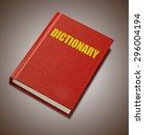 red hardback dictionary on... | Shutterstock . vector #296004194