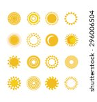 sun icons collection | Shutterstock .eps vector #296006504
