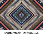 geometric ethnic pattern design ... | Shutterstock .eps vector #296009366